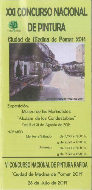 VI  Concurso de pintura Rápida Medina de Pomar 2014