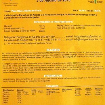 VI Open Internacional de Ajedrez Ciudad Medina de Pomar (02-08-15)