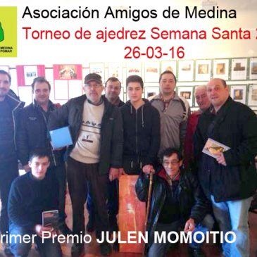 Torneo de ajedrez Semana Santa – Asociación amigos de Medina de Pomar