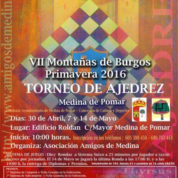 AJEDREZ MERINDADES – VII Torneo de ajedrez Montaña de Burgos – Primavera 2016
