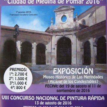 """XXIII CONCURSO NACIONAL DE PINTURA """"Ciudad de Medina de Pomar 2016 y VIII Concurso nacional de Pintura rapida"""""""