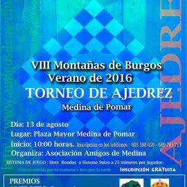 VIII Torneo de ajedrez Montañas de Burgos Medina de Pomar 13-05-16 – CRONICA DEPORTIVA