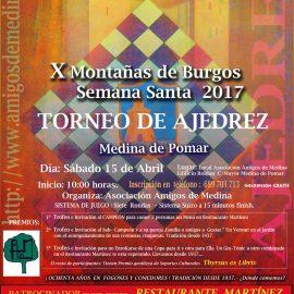 X Torneo de Ajedrez Montañas de Burgos – Semana Santa 2017