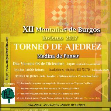 XII Edicion Torneo de Ajedrez Montañas de Burgos – Medina de Pomar