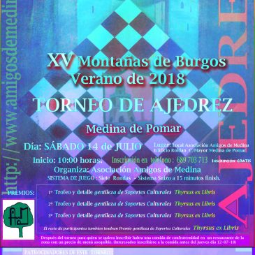 XV Torneo de Ajedrez Montañas de Burgos – Verano de 2018