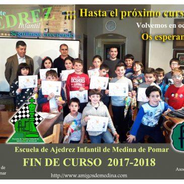 ESCUELA DE AJEDREZ INFANTIL DE MEDINA DE POMAR-  FIN DE CURSO 2017-2018